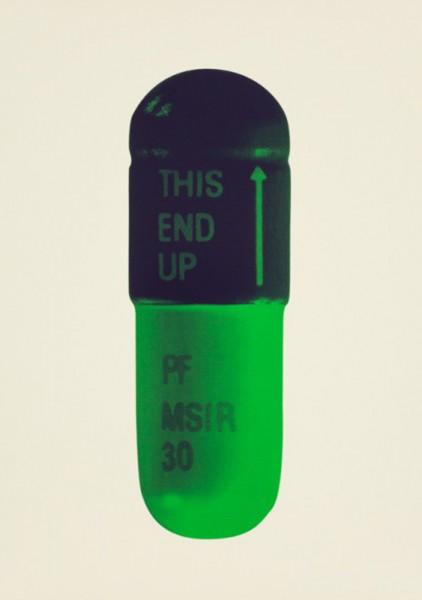 Damien Hirst, The Cure - Cream/Aubergine/Pea Green, 2014