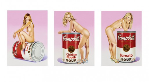 Mel Ramos, Campbell's Soup Blondes, 2016