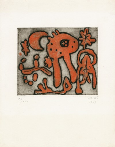 "From ""The prints of Joan Miró"" (Michel Leiris) von Joan Miró"