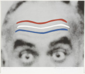 Raised Eyebrows/Furrowed Foreheads (Red, White, and Blue) from Artists for Obama