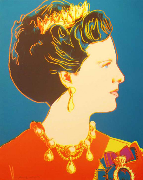 """Andy Warhol, Queen Margrethe II of Denmark (FS II.343), from the Portfolio """"Reigning Queens"""", 1985"""