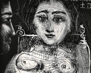 Femme assise dans un fauteuil (Portrait de Jacqueline au fauteuil) von Pablo Picasso