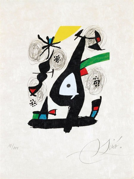 Joan Miró, Composition I, from: The Acid Melody | La Mélodie Acide, 1980