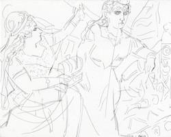 Brangäne & Isolde von Elizabeth Peyton