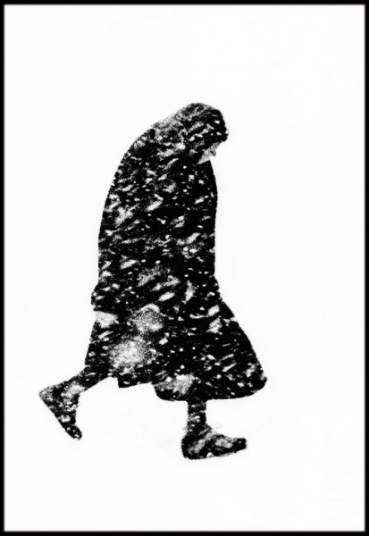 Thomas Hoepker, Woman in the Snow, Hamburg, 1954