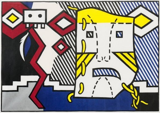 "Roy Lichtenstein, American Indian Theme V, from the Portfolio ""American Indian Theme"", 1980"
