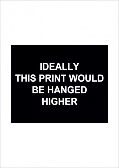 Ideally this print would be hanged higher von Laure Prouvost