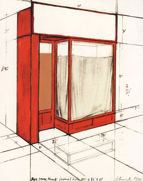 Christo, Red Store Front, 1977