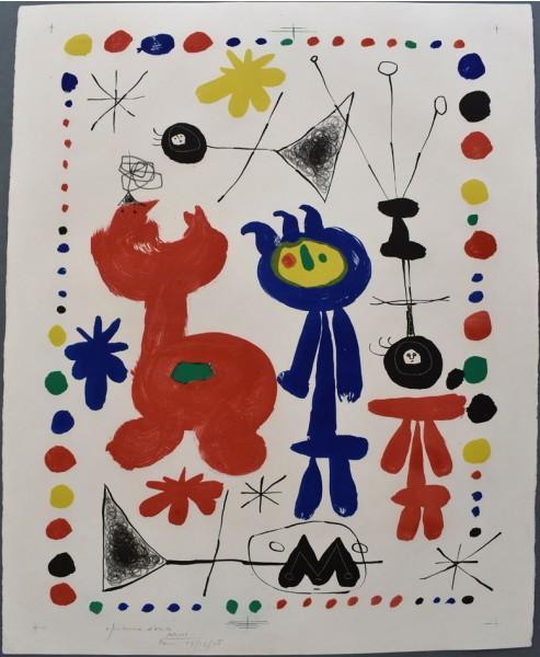 Joan Miró, Figure and Bird | Personnage et Oiseau, 1948