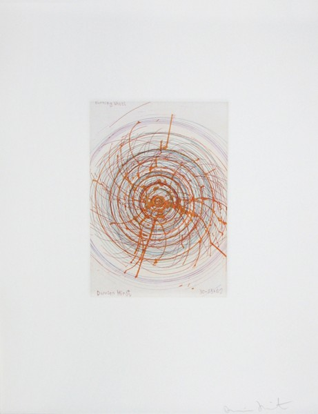 Damien Hirst, Burning Wheel, from In A Spin Series, 2002