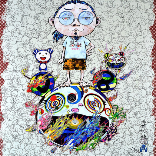 Takashi Murakami, Obliterate the Self and Even a Fire is Cool, 2013