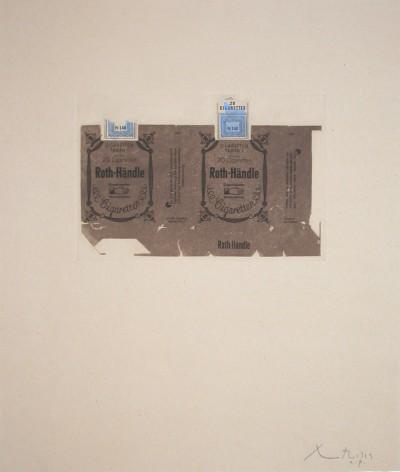 Roth-Handle II (brown) von Robert Motherwell