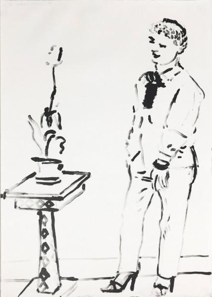 David Hockney, Celia Musing, 1970