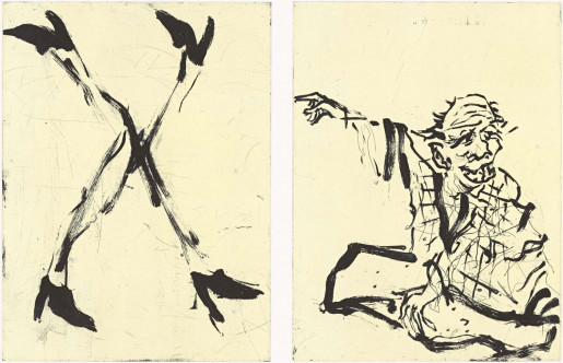 Georg Baselitz, Besuch von Hokusai I, 2015