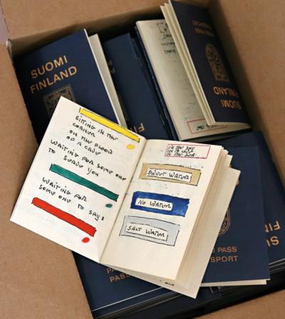 Suomi Finland Passi Port Passport von Lawrence Weiner