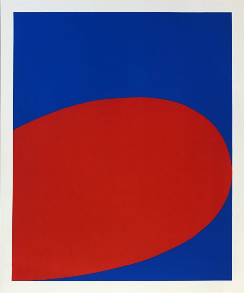 Ellsworth Kelly, Red/Blue from Ten Works by Ten Painters portfolio, 1964