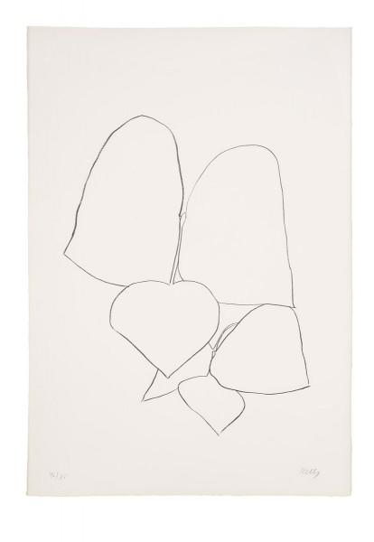 Ellsworth Kelly, String Bean Leaves III (Haricot Vert III), 1965-66
