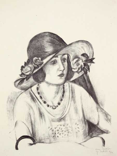 Henri Matisse, La capeline de paille d'Italie, 1923