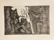 Peintre à son chevalet, avec un modèle assis