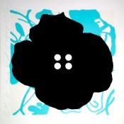 Button Flower Aqua