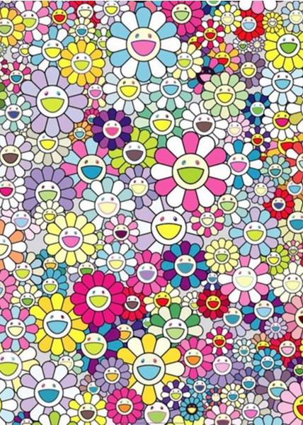 Takashi Murakami, Champagne Supernova: Multicolor Pink and White Stripes, 2013