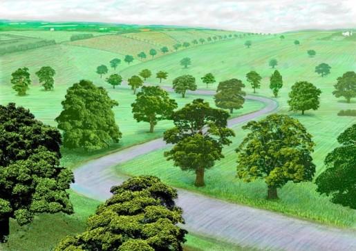 David Hockney, Green Valley, 2008