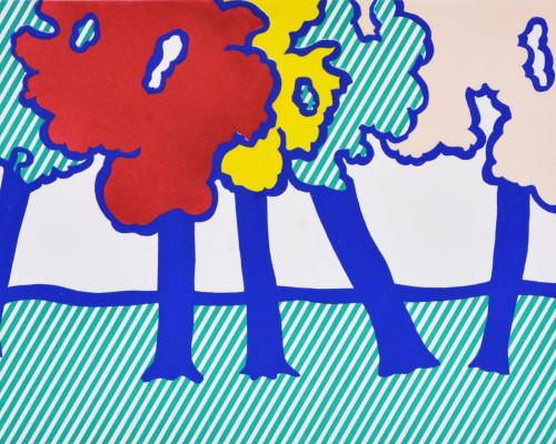 Illustration for 'Or Automnal: Arrière-Saison en Nouvelle Angleterre', from La Nouvelle Chute de lAmérique von Roy Lichtenstein