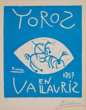 Toros en Vallauris 1957