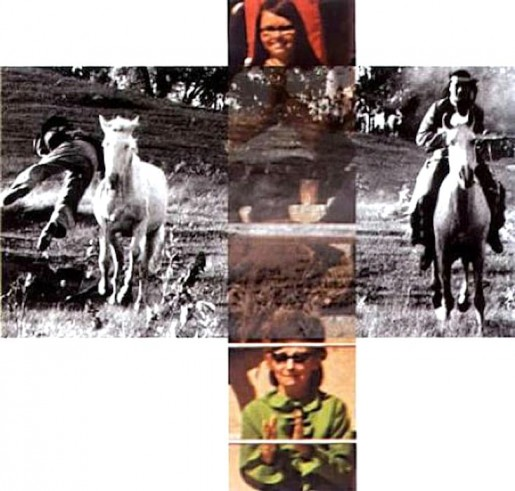 John Baldessari, The Intersection Series: Person on Horse and Person Falling from Horse (With Audience), 2002