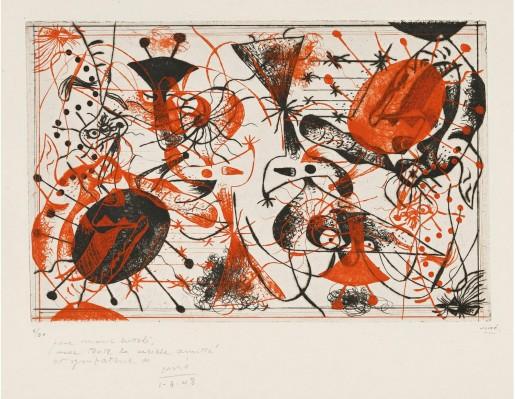 Joan Miró, Série Noire et Rouge, 1938