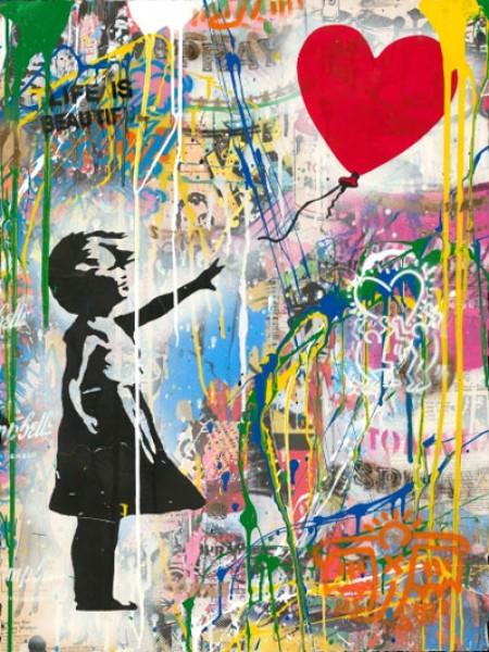 Mr. Brainwash, Balloon Girl (Haring), 2018