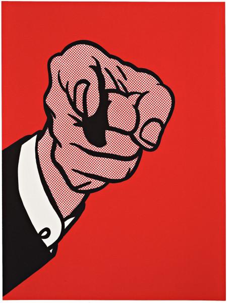 Roy Lichtenstein, Finger Pointing, 1973