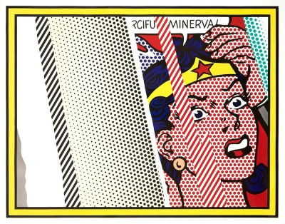 Roy Lichtenstein, Reflections On Minerva, 1990