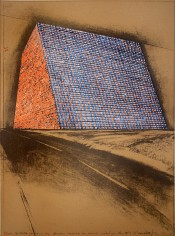 "Texas Mastaba, Project for 500,000 Stacked Oil Drums, from the Portfolio ""America: The Third Century"""