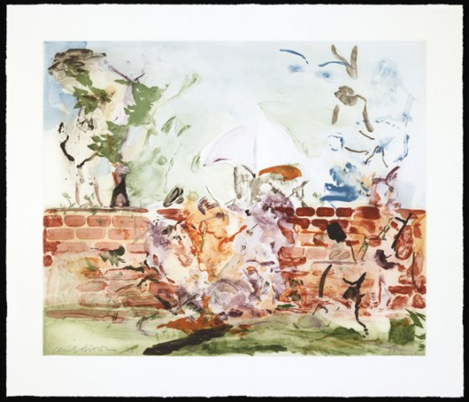 Cecily Brown, Color Etching with Brick Wall, 2003