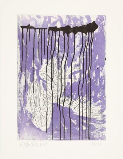 Fortuna (Farbvariante in Violett) von Georg Baselitz