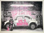 VW Bettle Pink