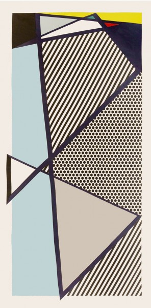 Roy Lichtenstein, Imperfect Print for B.A.M., 1987