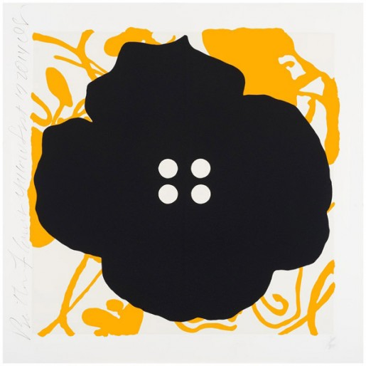 Donald Sultan, Button Flower Yellow, 2014