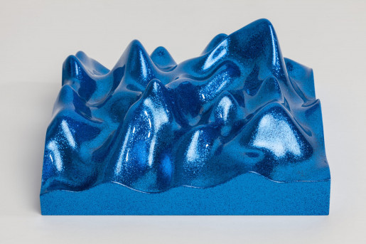 Peter Saville, Unknown Pleasure, Metal Flake 011718 Royal Blue, 2015