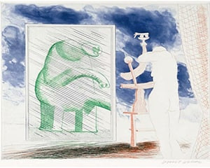 A Picture of Ourselves von David Hockney