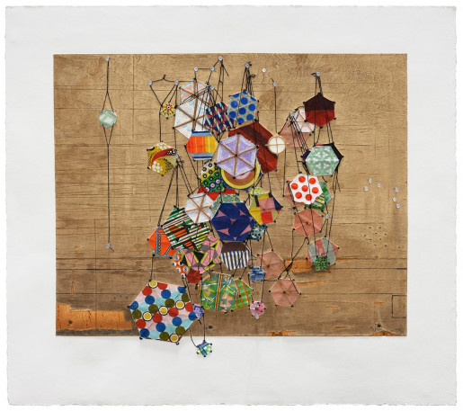 Jacob Hashimoto, Tiny Rooms and Tender Promises, 2016