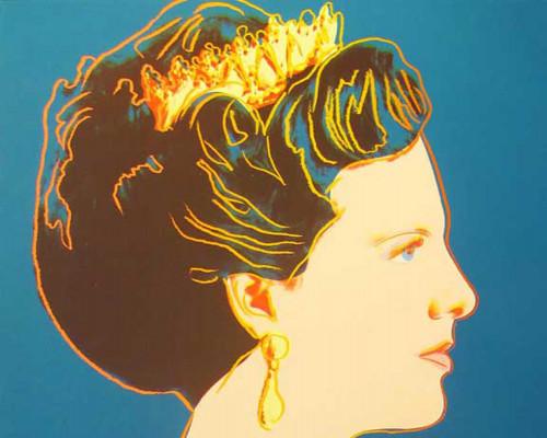 """Queen Margrethe II of Denmark (FS II.343), from the Portfolio """"Reigning Queens"""" von Andy Warhol"""