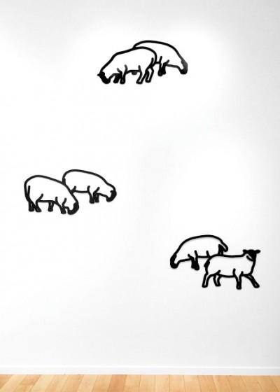 Sheep 1-3, from Nature 1 Series von Julian Opie