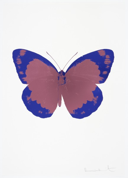 Damien Hirst, The Souls II - Loganberry Pink/Westminster Blue/Blind Impression, 2010
