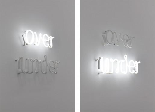 Peter Liversidge, over/under, 2014