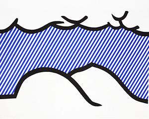 Illustration for 'De Denver au Montana, Départ 27 Mai 1972' (I), from La Nouvelle Chute de lAmérique von Roy Lichtenstein