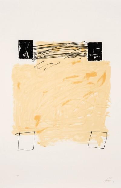 Quatre carrés von Antoni Tàpies