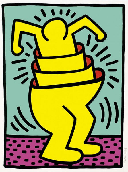 """Keith Haring, Untitled from the Portfolio """"Kinderstern"""", 1989"""
