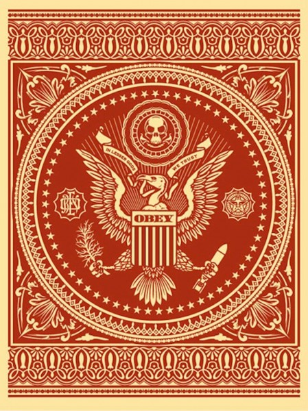 Shepard Fairey, Presidential Seal Red, 2007
